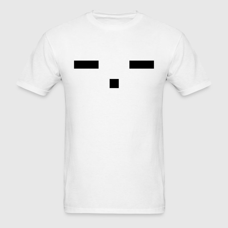 -.- emotionless anime emoticon face T-Shirts - Men's T-Shirt