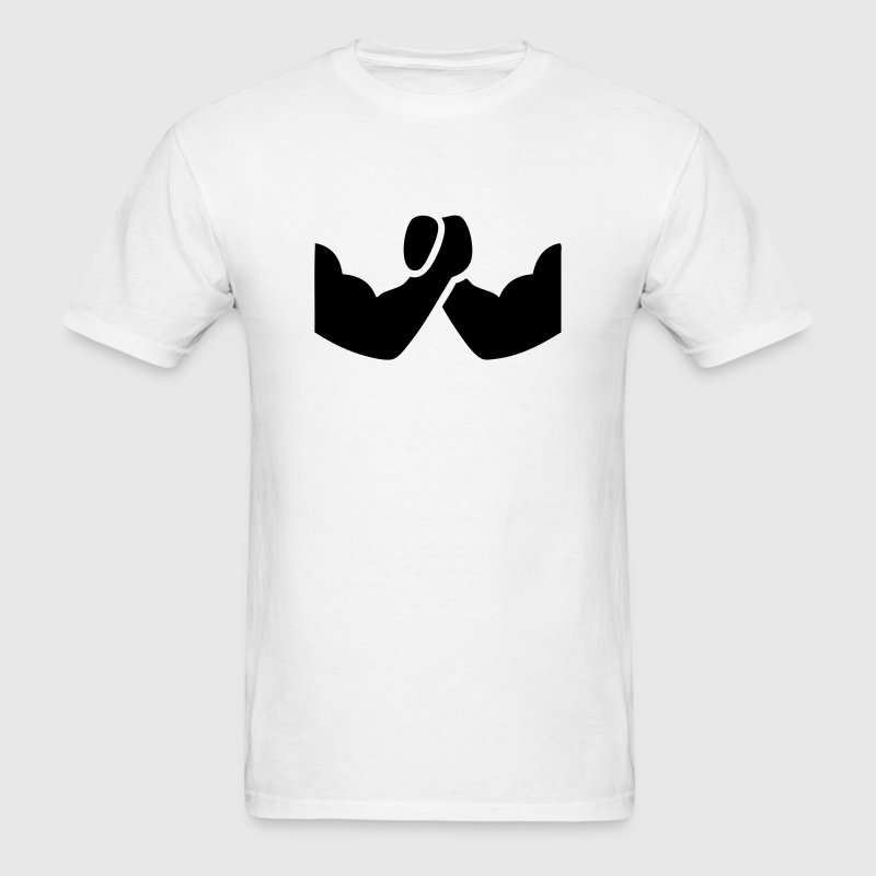 Arm Wrestling Symbol Icon Design T-Shirts - Men's T-Shirt
