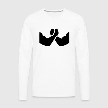 Arm Wrestling Symbol Icon Design T-Shirts - Men's Premium Long Sleeve T-Shirt