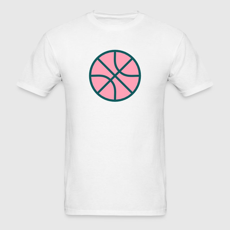 Basketball Minimalist Design Icon T-Shirts - Men's T-Shirt