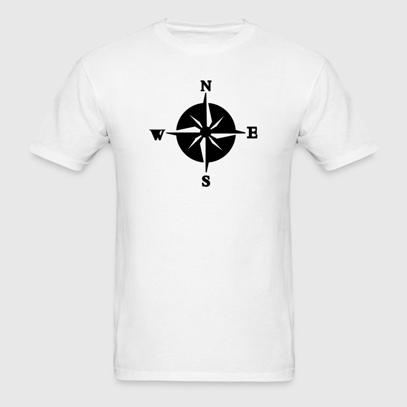 North, South, East & West Compass (NSWE) T-Shirts - Men's T-Shirt