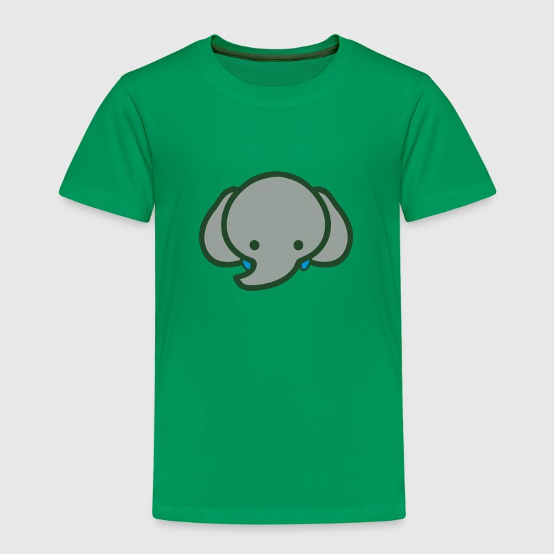 Cute Baby Cartoon Elephant Face Baby & Toddler Shirts - Toddler Premium T-Shirt