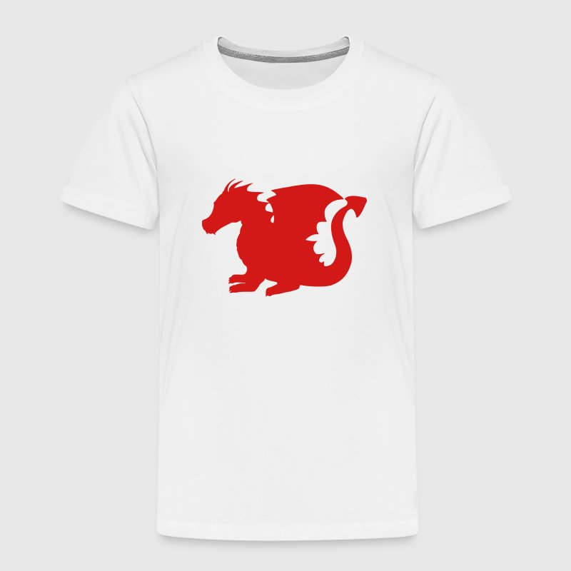 Baby Dragon Silhouette Baby & Toddler Shirts - Toddler Premium T-Shirt