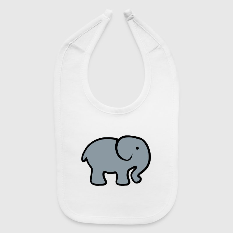 Cute Baby Cartoon Elephant Baby Bibs - Baby Bib