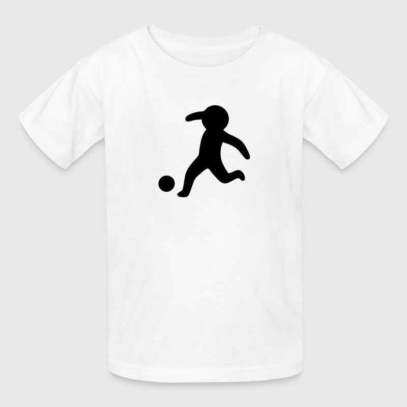 Football / Soccer Stickman, Stickfigure Kids' Shirts - Kids' T-Shirt