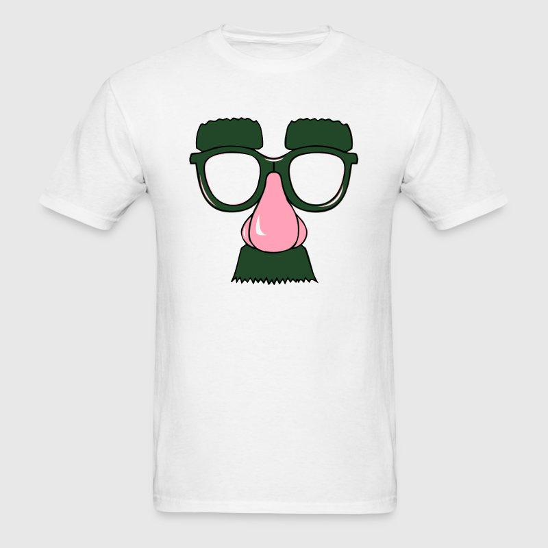 Funny Face Disguise (Big Nose, Mustache, Glasses) T-Shirts - Men's T-Shirt