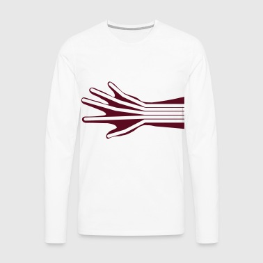 Hand Stretched (Skeleton) Kids' Shirts - Men's Premium Long Sleeve T-Shirt