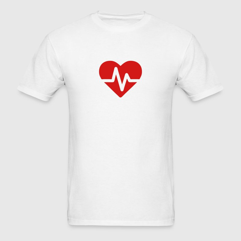 Heartbeat Pulse (Electric Loveheart) T-Shirts - Men's T-Shirt