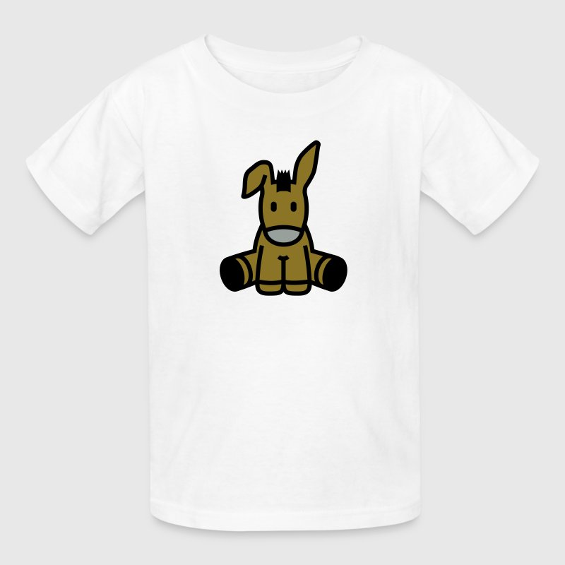 Cute Cartoon Donkey Sitting Kids' Shirts - Kids' T-Shirt