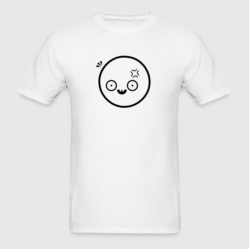 Anime Emoticon Face (Confused/Surprised) T-Shirts - Men's T-Shirt