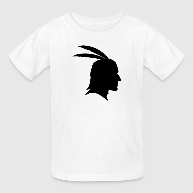 Native Indian Head Silhouette Kids' Shirts - Kids' T-Shirt