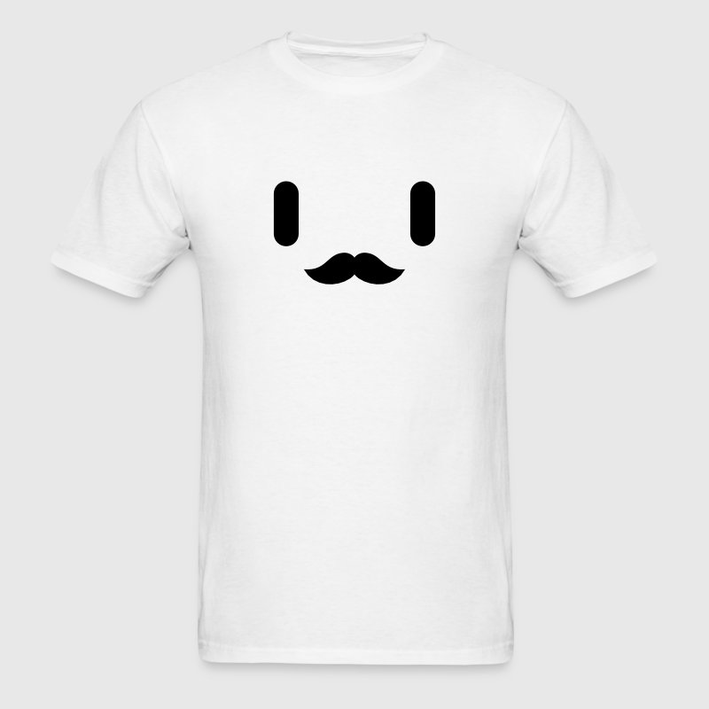 Mustache Anime Japanese Face T-Shirts - Men's T-Shirt