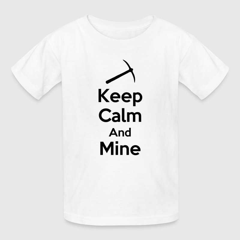 Keep Calm And Mine (Mining/Pickaxe) Kids' Shirts - Kids' T-Shirt