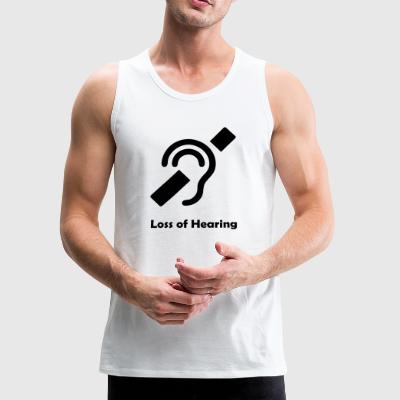 Loss of Hearing Symbol Kids' Shirts - Men's Premium Tank