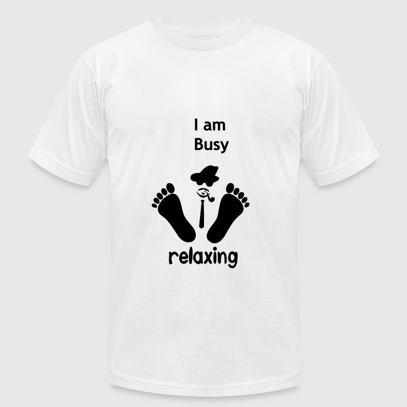 Busy relaxing - Men's T-Shirt by American Apparel