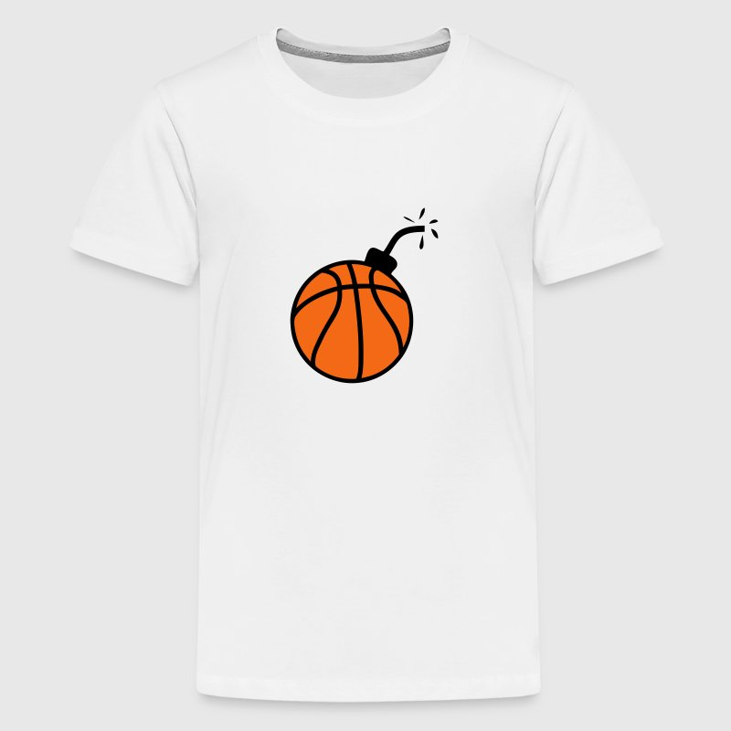 bomb balloon basketball Kids' Shirts - Kids' Premium T-Shirt