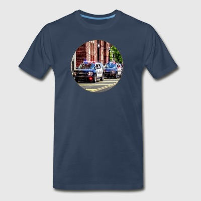 Line of Police Cars Sportswear - Men's Premium T-Shirt