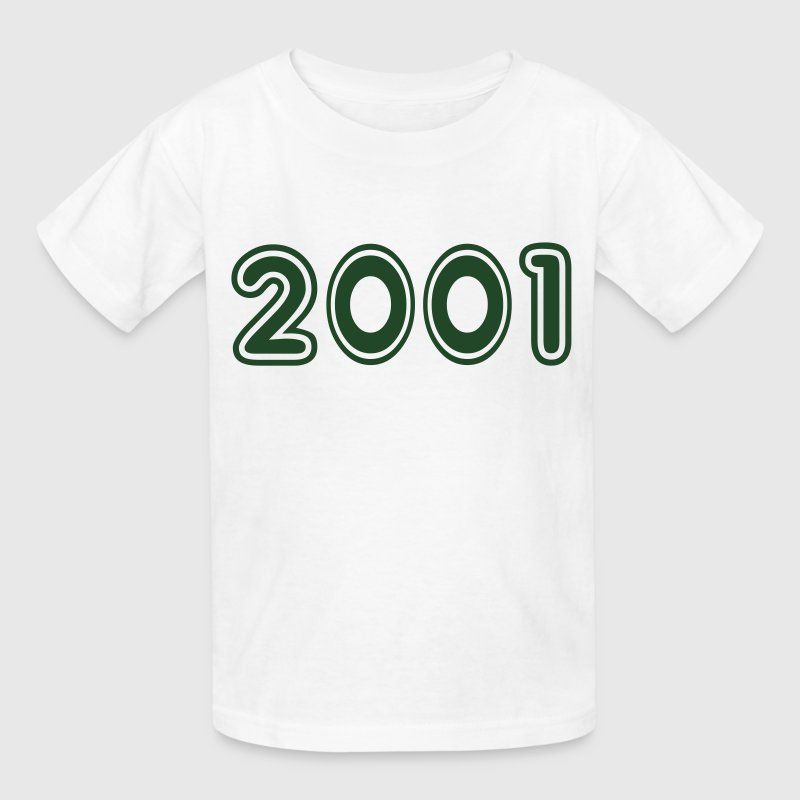 2001, Numbers, Year, Year Of Birth Kids' Shirts - Kids' T-Shirt
