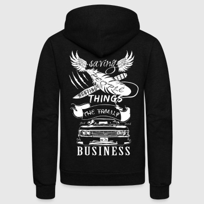Supernatural - Saving people hunting things Tshirt - Unisex Fleece Zip Hoodie by American Apparel