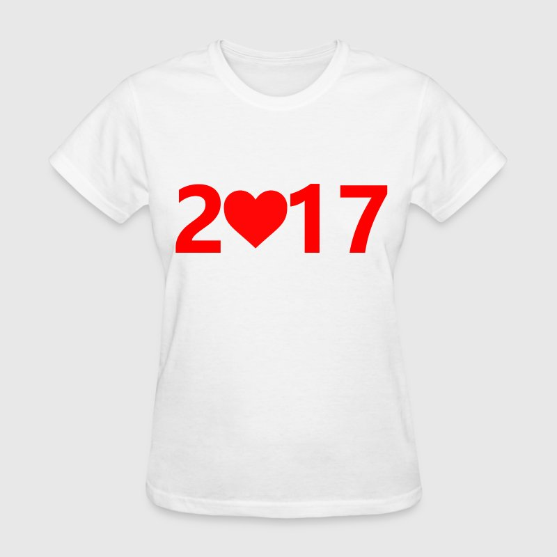 2017 love T-Shirts - Women's T-Shirt