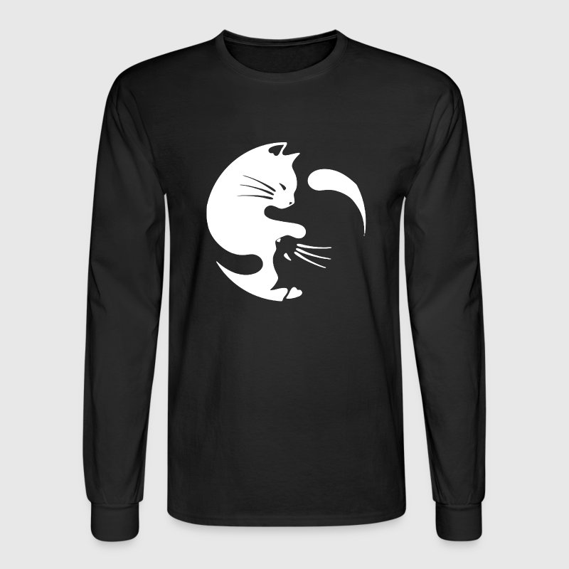 Cat Yin Yang Shirt - Men's Long Sleeve T-Shirt