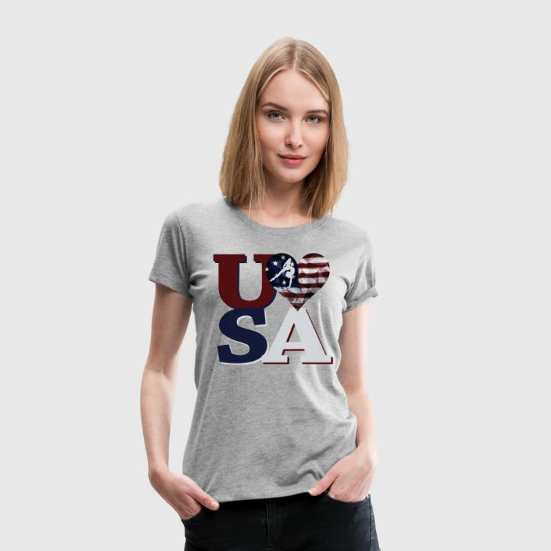 Love USA Gymnastics T-Shirts - Women's Premium T-Shirt