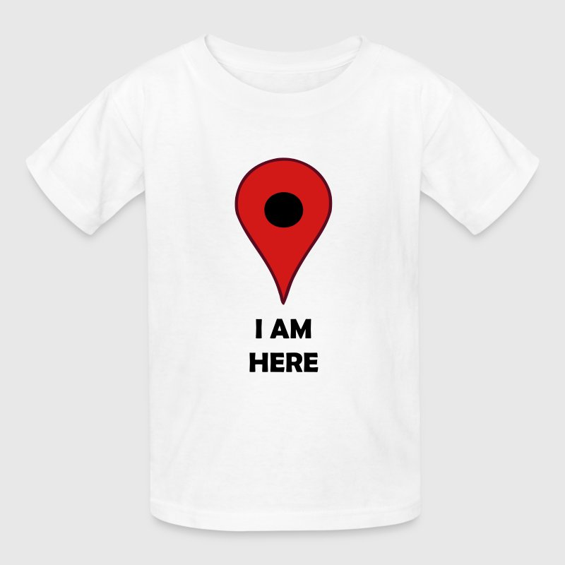 I AM HERE Map Location GPS Symbol Kids' Shirts - Kids' T-Shirt