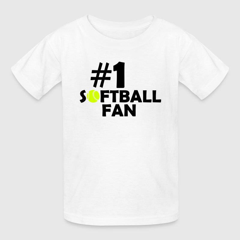 #1 SOFTBALL FAN (Number One) Kids' Shirts - Kids' T-Shirt