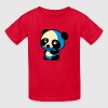 Cute Little Anime Cartoon Panda Bear Kids' Shirts - Kids' T-Shirt