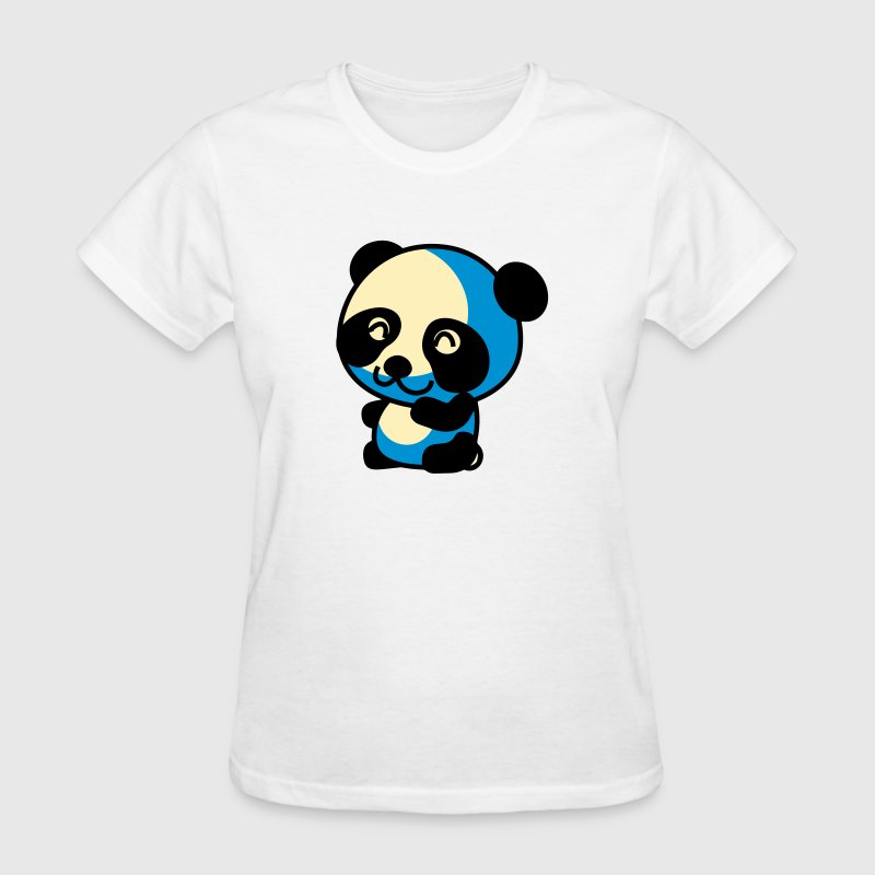 Cute Little Anime Cartoon Panda Bear T-Shirts - Women's T-Shirt