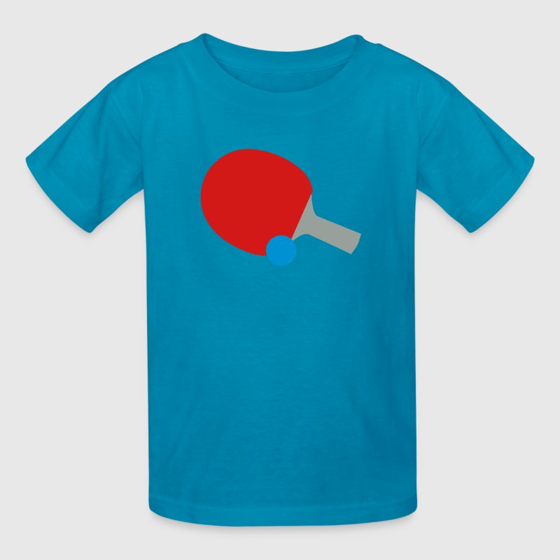 Ping Pong Bat & Ball Kids' Shirts - Kids' T-Shirt