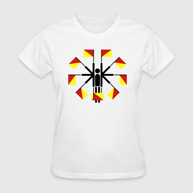 Semaphore Flag Positions (Stickman / Stickfigure) T-Shirts - Women's T-Shirt