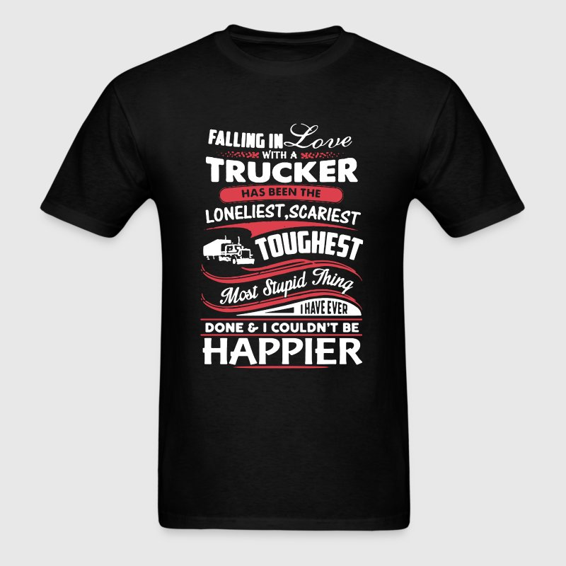 Fall In Love With Trucker - Men's T-Shirt