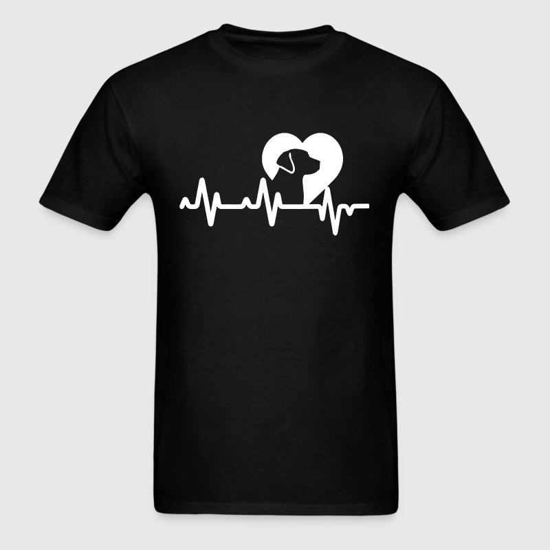 Dog Heartbeat Shirt - Men's T-Shirt