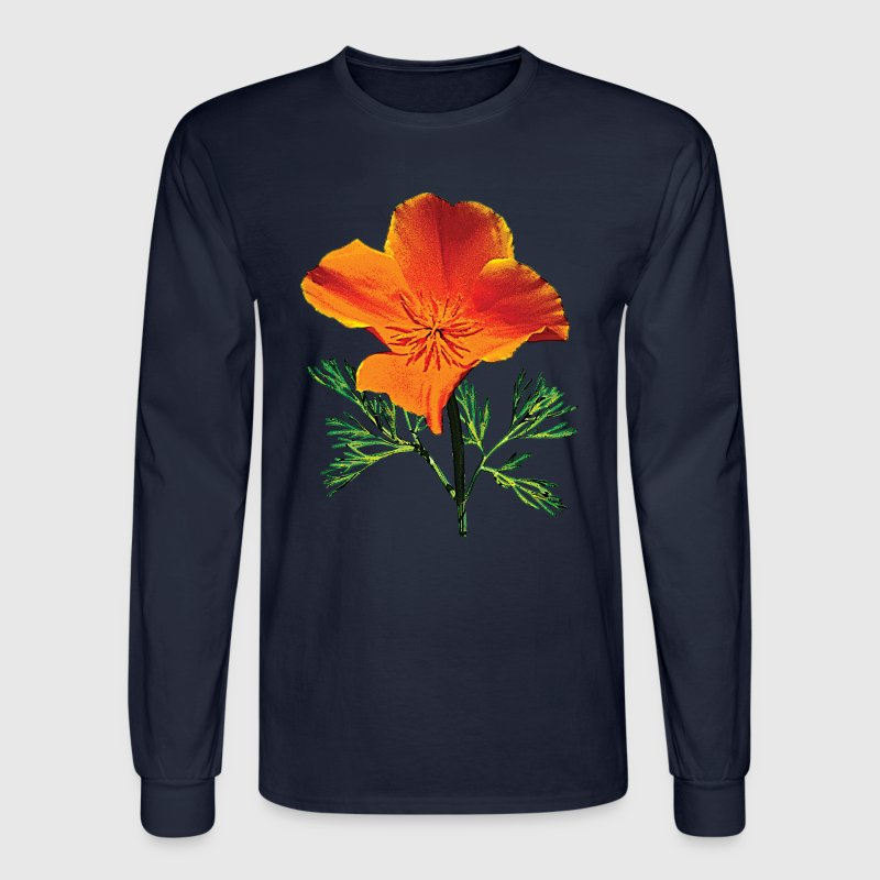 Orange California Poppy Long Sleeve Shirts - Men's Long Sleeve T-Shirt