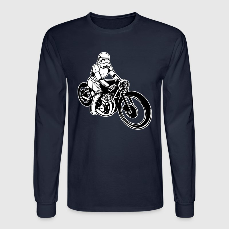 Stormtrooper Motorcycle Long Sleeve Shirts - Men's Long Sleeve T-Shirt