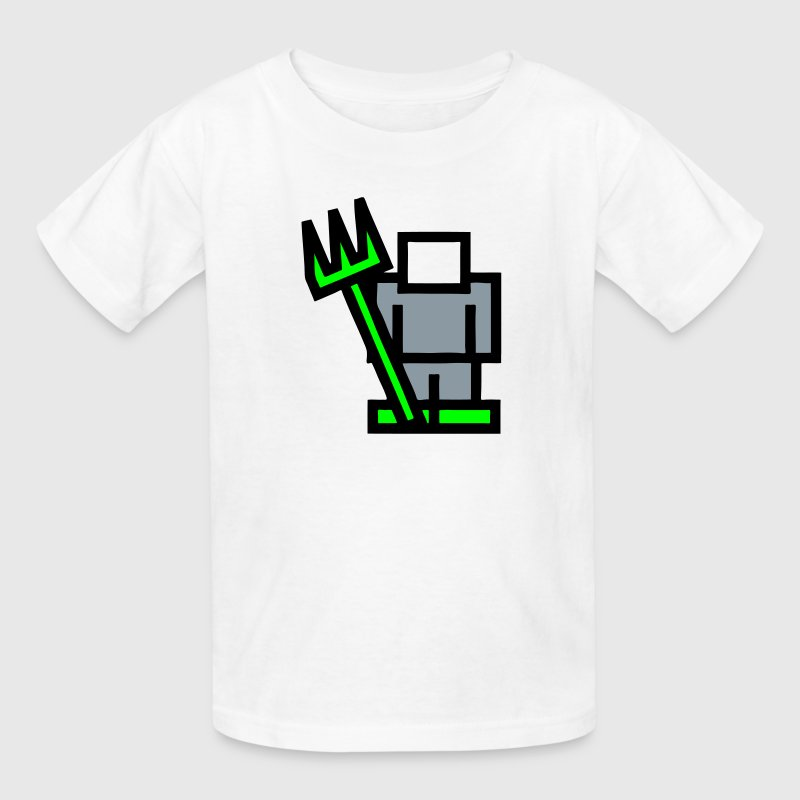 RPG Game 8Bit Farming Man / Farmer Kids' Shirts - Kids' T-Shirt