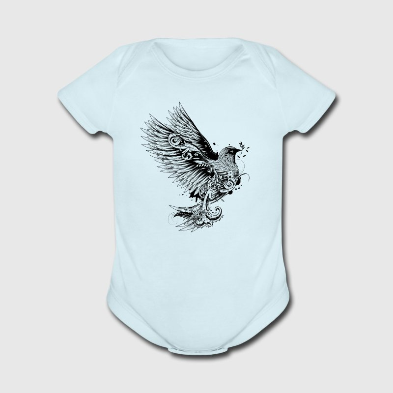 Dove in tattoo style Baby Bodysuits - Short Sleeve Baby Bodysuit