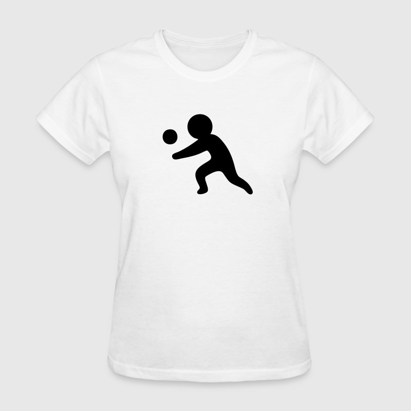 Volleyball Sports Silhouette T-Shirts - Women's T-Shirt