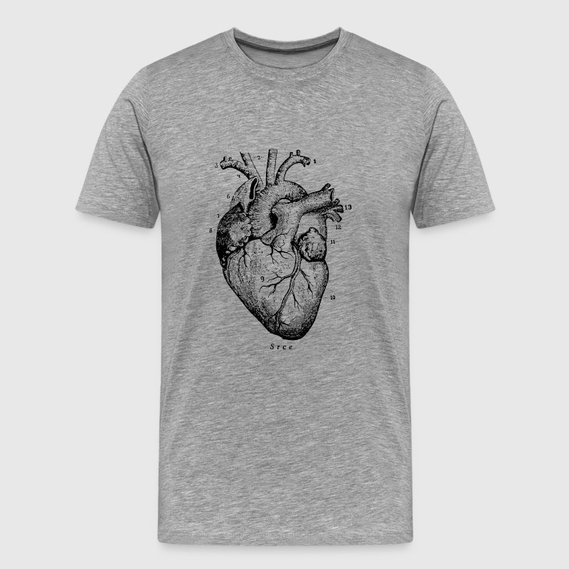 Heart Illustration Men's Premium T-Shirt - Men's Premium T-Shirt