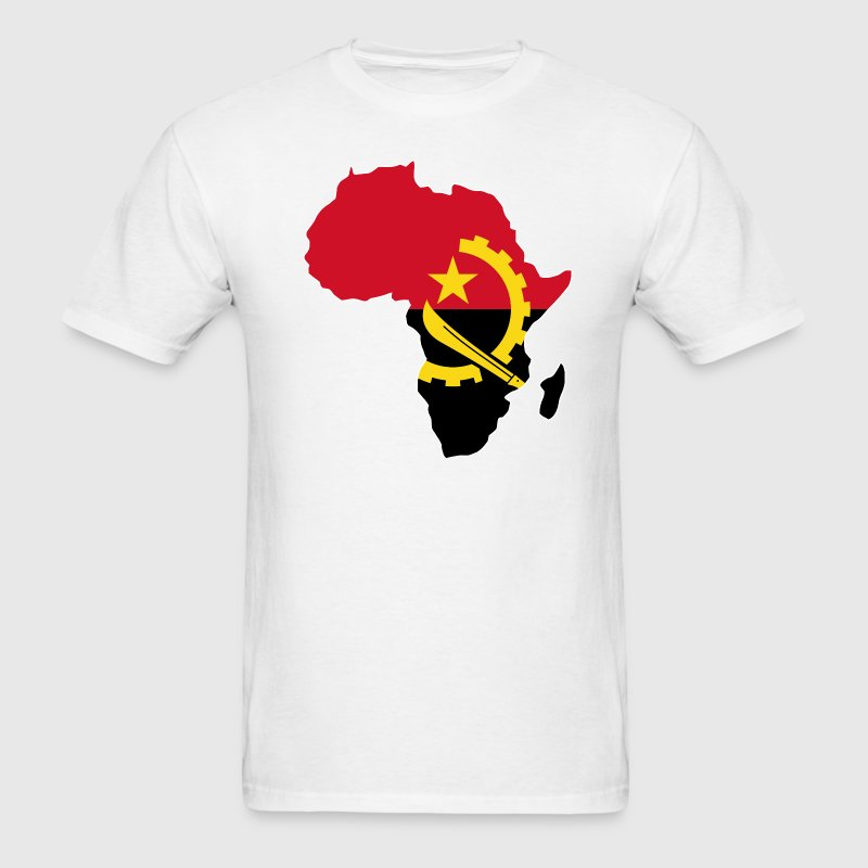 Angola Map In Africa Map T-Shirt - Men's T-Shirt