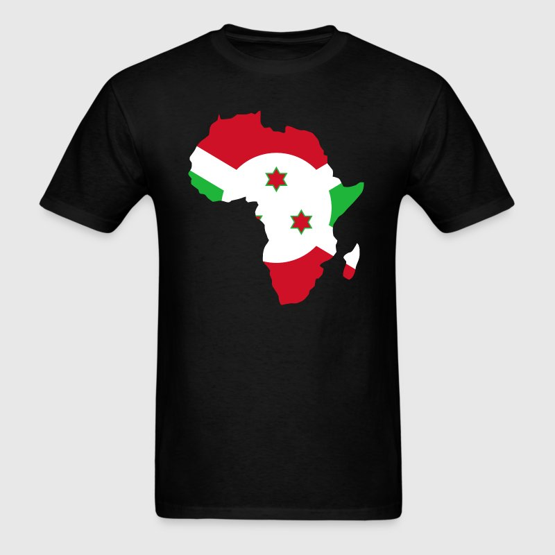 Burundi Flag In Africa Map - Men's T-Shirt