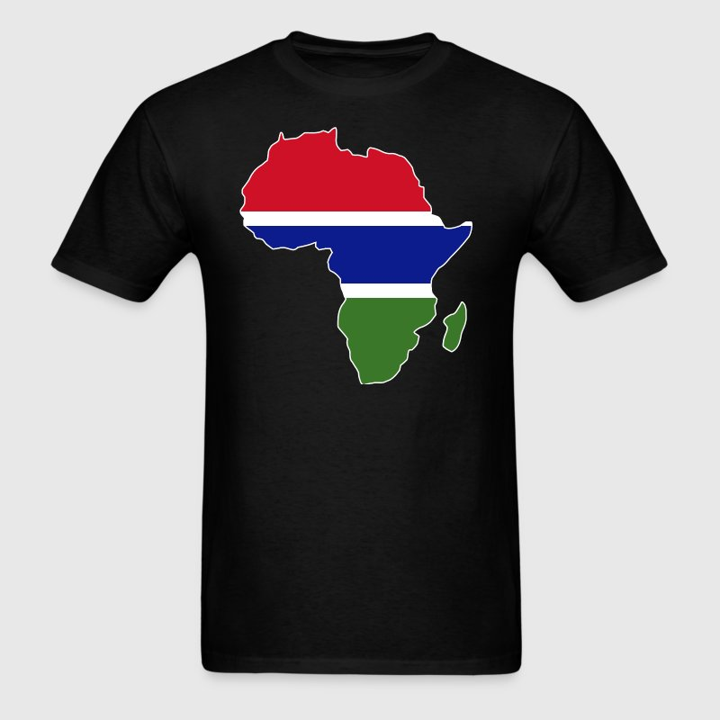 Gambia Flag In Africa Map T-Shirt - Men's T-Shirt