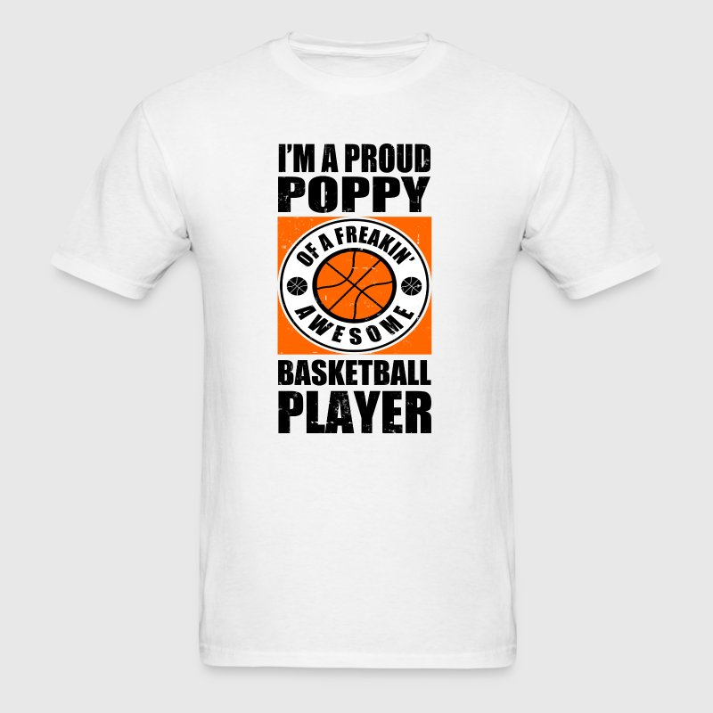 PROUD POPPY  BASKETBALL PLAYER - Men's T-Shirt