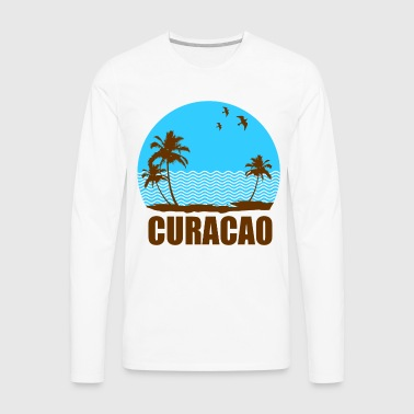 CURACAO BEACH - Men's Premium Long Sleeve T-Shirt