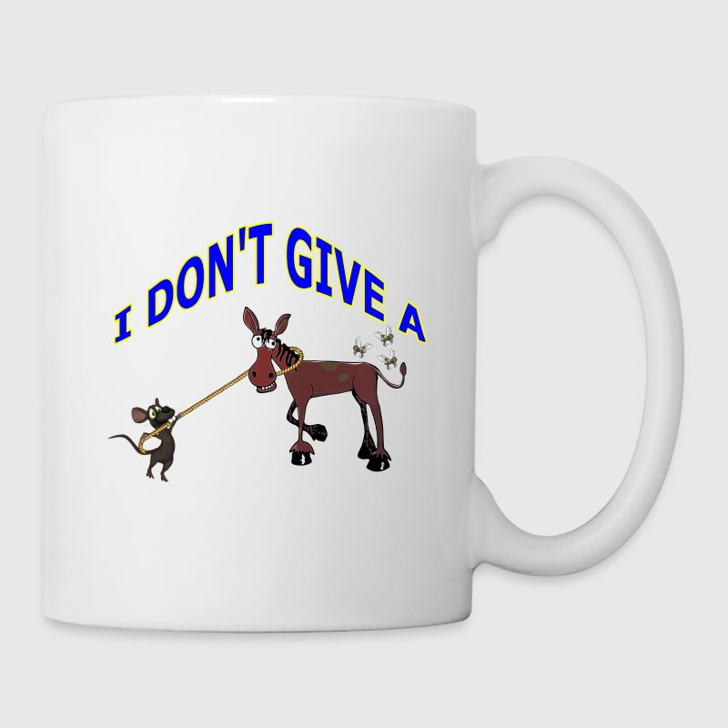I DON'T GIVE A RAT'S ASS - Coffee/Tea Mug