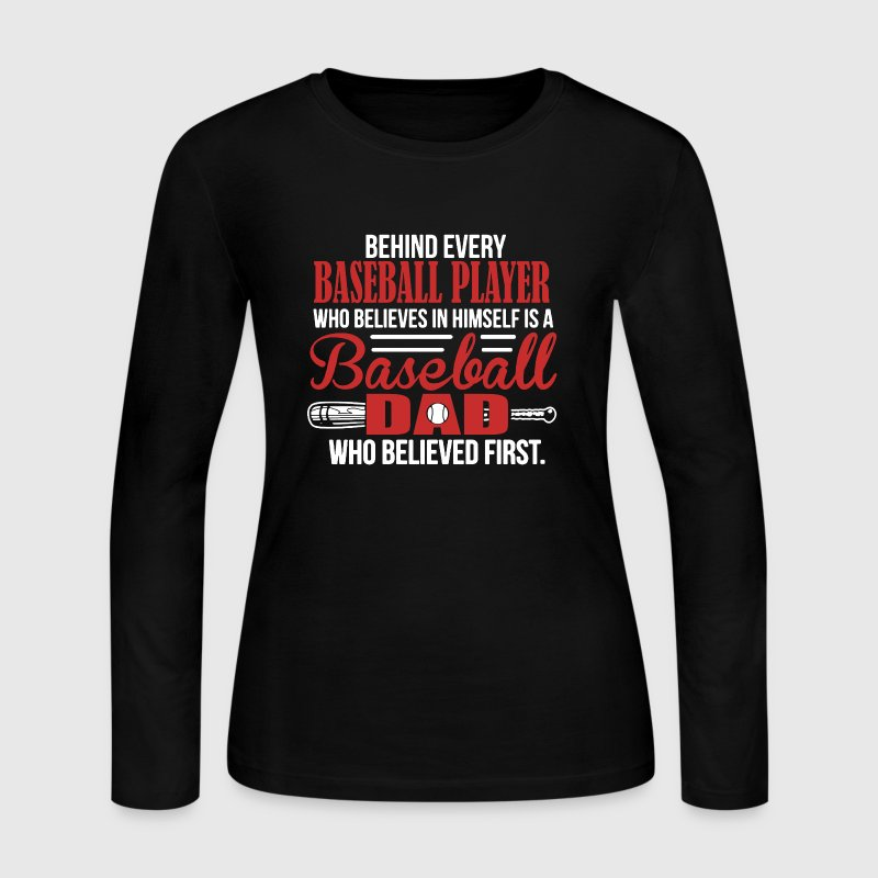 Baseball Dad Shirt - Women's Long Sleeve Jersey T-Shirt