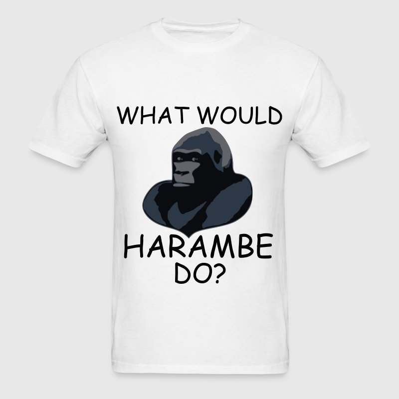 What Would Harambe Do? T-Shirt (Black) - Men's T-Shirt