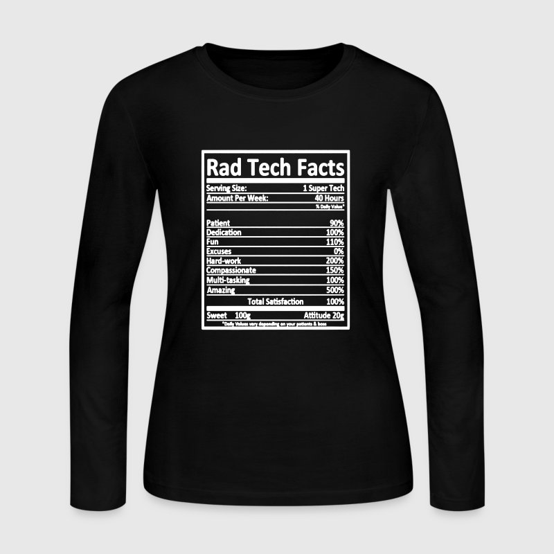 Rad Tech Facts Shirt - Women's Long Sleeve Jersey T-Shirt