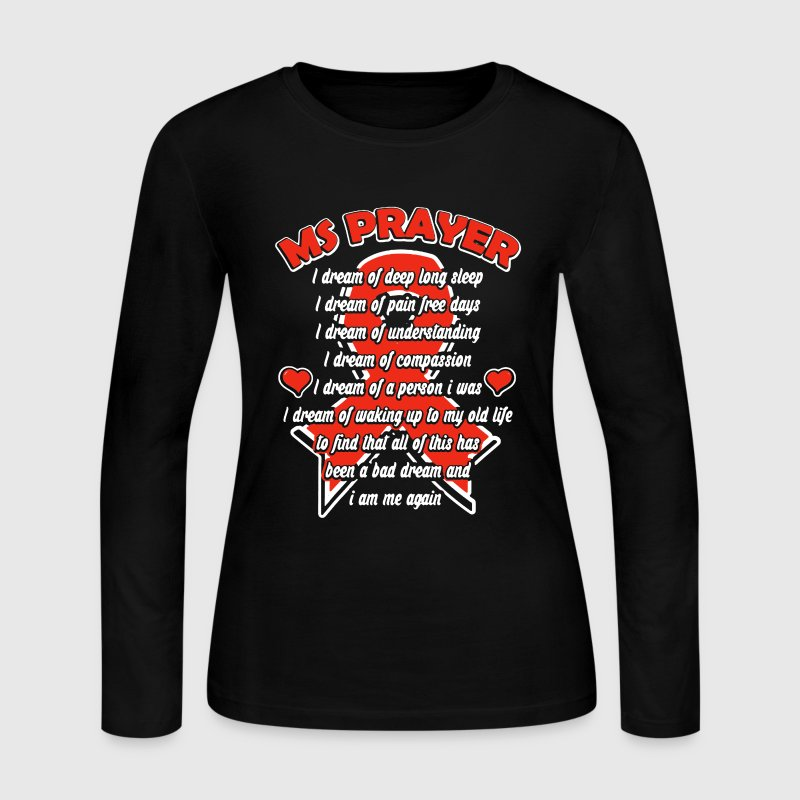 Ms Prayer Shirt - Women's Long Sleeve Jersey T-Shirt